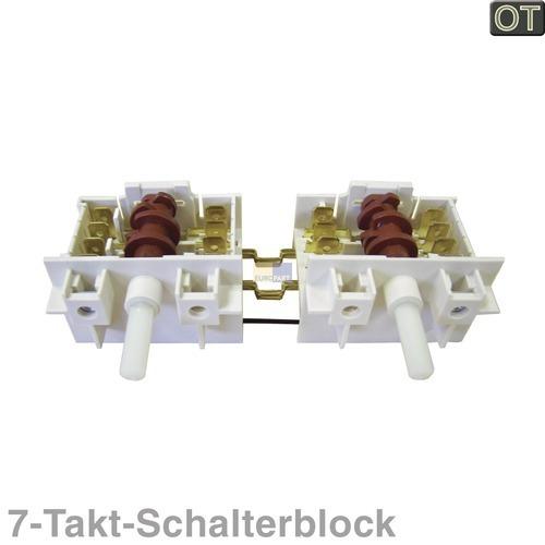 Klick zeigt Details von Kochplattenschalterblock 2er-Einheit Dreefs 5HE/565