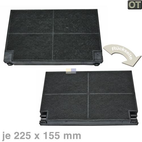 Klick zeigt Details von Kohlefilter 225x155mm Electrolux OT!, 2 Stück