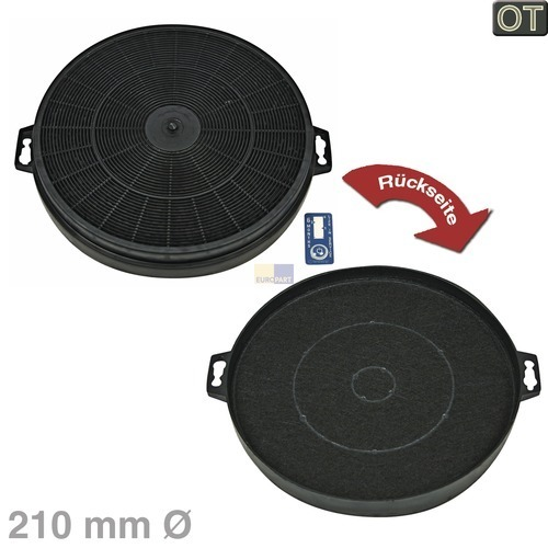 Klick zeigt Details von Aktivkohlefilter rund, Ø 210mm