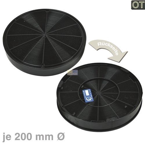Klick zeigt Details von 2 Kohlefilter Filter Atkivkohlefilter wie EFF62 AEG 5029065900-7