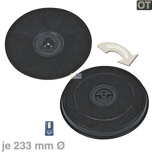 Klick zeigt Details von 2 x Aktivkohlefilter Filter AEG 902979359-4 EFF 57 Dunsthaube