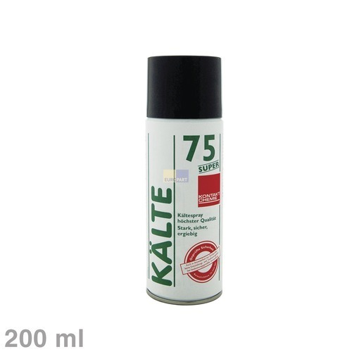 Klick zeigt Details von Spray Kältespray Kontakt-Chemie Kälte75Super 200ml