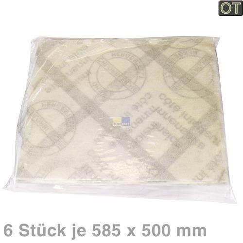Klick zeigt Details von Fettfiltermatte 585x500mm, 6 Stück