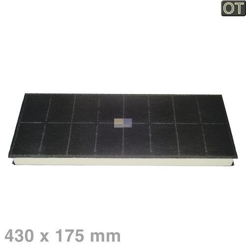Klick zeigt Details von Aktivkohlefilter Dunstabzugshaube 296178 Bosch 430 x 175 mm