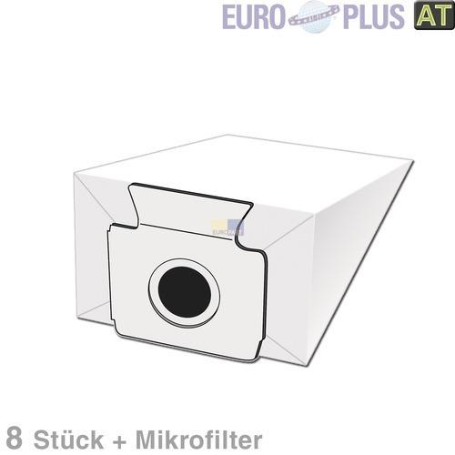 Klick zeigt Details von Filterbeutel Europlus M306 Miele 1122199 TypB Alternative 8 Stück