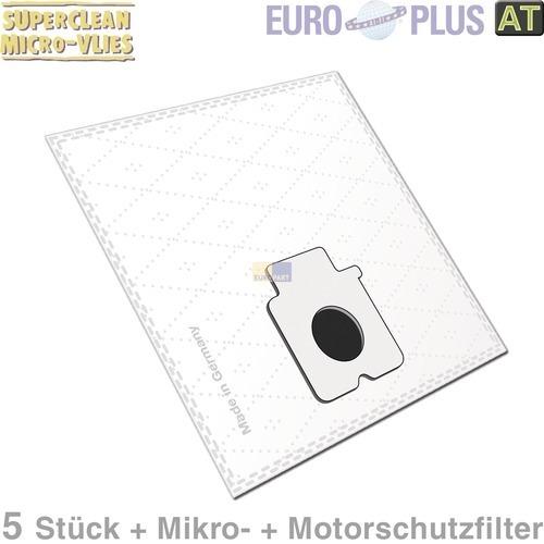 Klick zeigt Details von Filterbeutel Europlus PA1701 Vlies u.a. für Panasonic 5 Stk