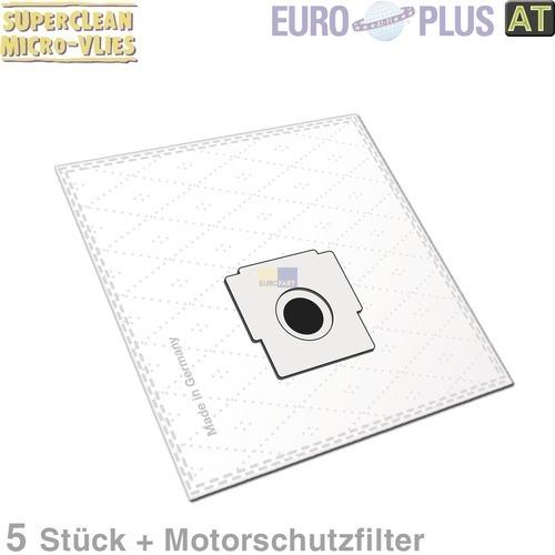 Klick zeigt Details von Filterbeutel Europlus Z7008 Vlies u.a. für Bestron, Zelmer 5 Stk