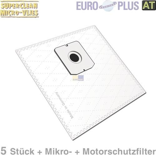 Klick zeigt Details von Filterbeutel Europlus Z7013 Vlies u.a. für Fakir, Zelmer 5 Stk