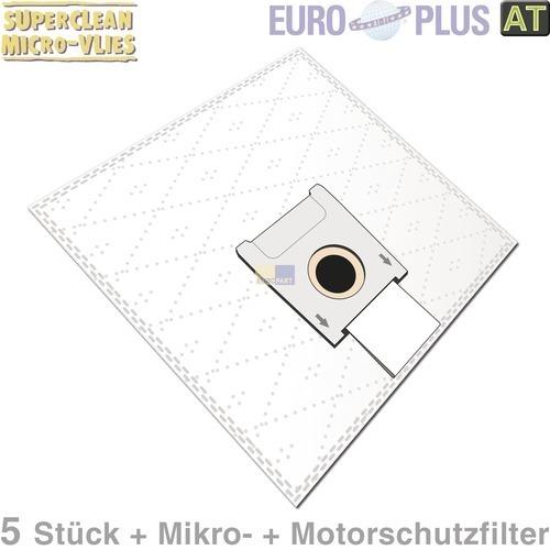 Klick zeigt Details von Filterbeutel Europlus S4018 Vlies u.a. für Siemens Super 5 Stk