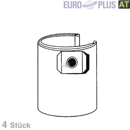 Filterbeutel Europlus TO9503 u.a. für Thomas Inox, Lloyds 4 Stk