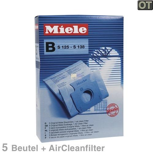 Klick zeigt Details von Filterbeutel Miele 1122199 TypB Original 5 Stück