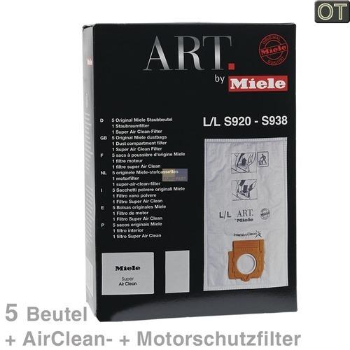 Klick zeigt Details von Filterbeutel Miele 5852650 TypL/L Original 5 Stück