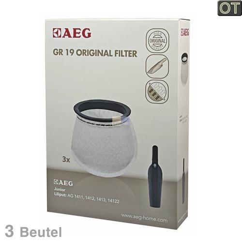 Klick zeigt Details von Filterbeutel AEG Gr.19 Electrolux 900087602/0 3 Stk