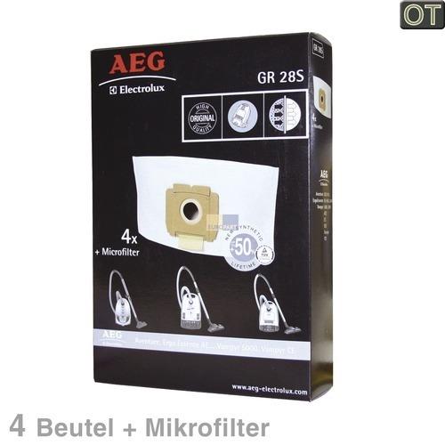 Klick zeigt Details von Filterbeutel AEG Gr.28s Electrolux 900256542/3 4 Stk
