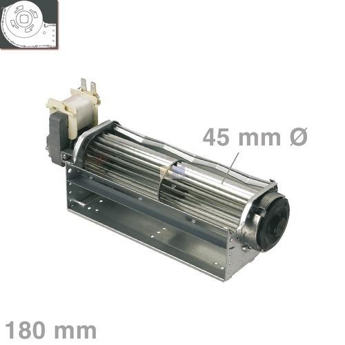 Querstromlüfter 180mm-A-links QLK45/0018A128 2513L Stiebel 066221 Malag 167762 AEG Nachtspeicher Solarien Backöfen Lüfter Ventilator