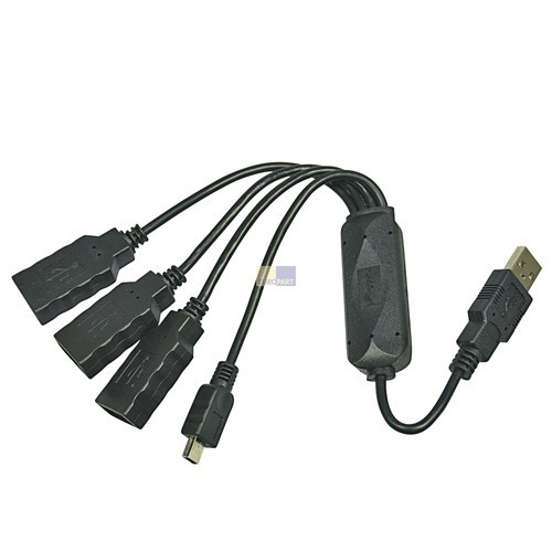 Klick zeigt Details von Kabel USB 2.0 Kabel HUB 3+1 Port