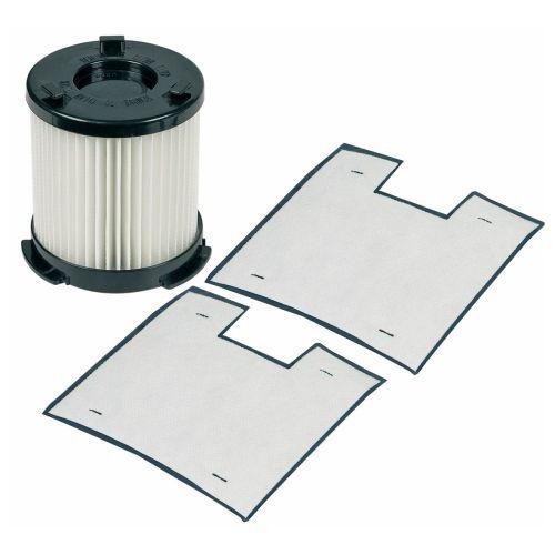 Klick zeigt Details von Filter Abluftfilter Filterzylinder + 2 x Mikrofilter AEG AEF20 900196668/9 Original