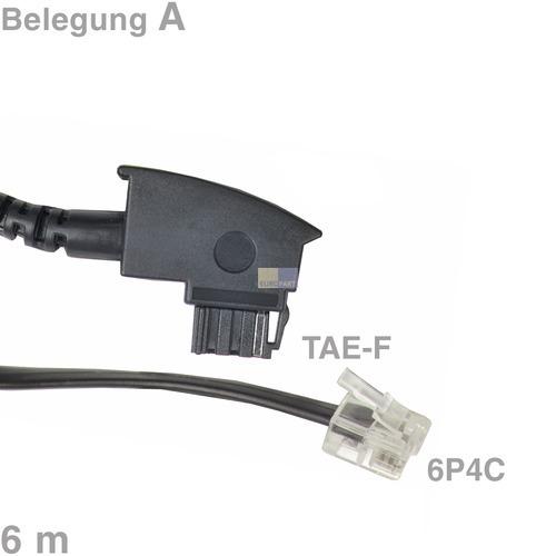 Klick zeigt Details von Kabel Anschlusskabel TAE-F / 6P4C 6m