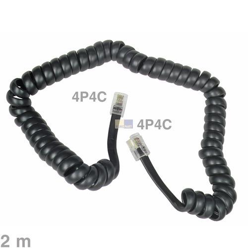 Klick zeigt Details von Kabel Telefonhörer-Anschlusskabel 2m