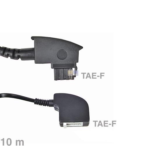 Klick zeigt Details von Kabel Telefon-Verlängerungskabel TAE-F 10m