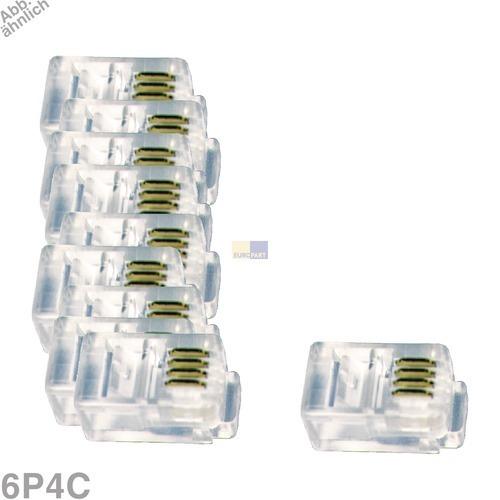 Klick zeigt Details von Modular-Stecker 6P4C, 10 Stück