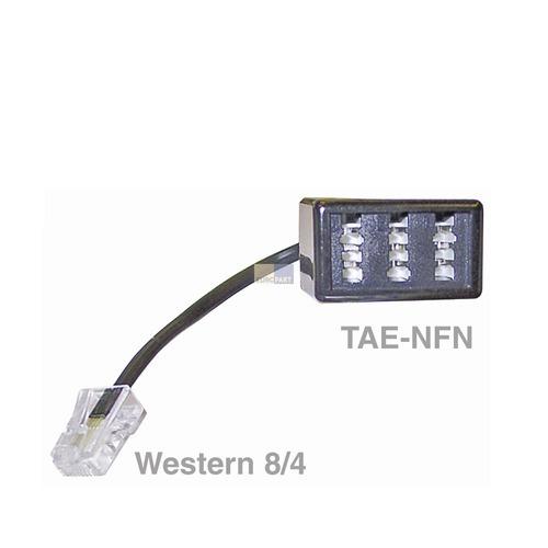 Klick zeigt Details von Adapter RJ45-Stecker / TAE-NFN-Buchse Telefon,