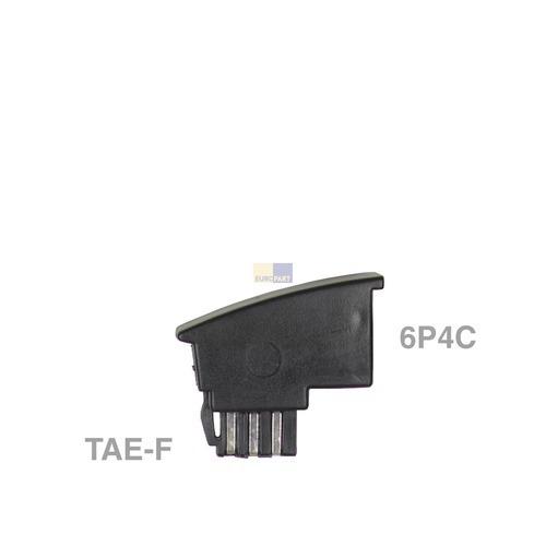 Klick zeigt Details von Adapter TAE-F-Stecker / 6P4C-Buchse,