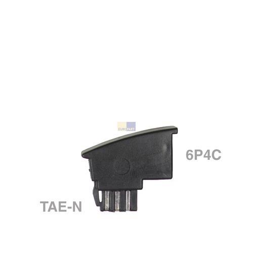 Klick zeigt Details von Adapter TAE-F-Stecker / 6P4C-Buchse