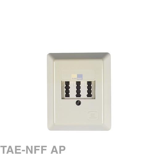 Klick zeigt Details von Anschlussdose 3-fach TAE-NFF AP,