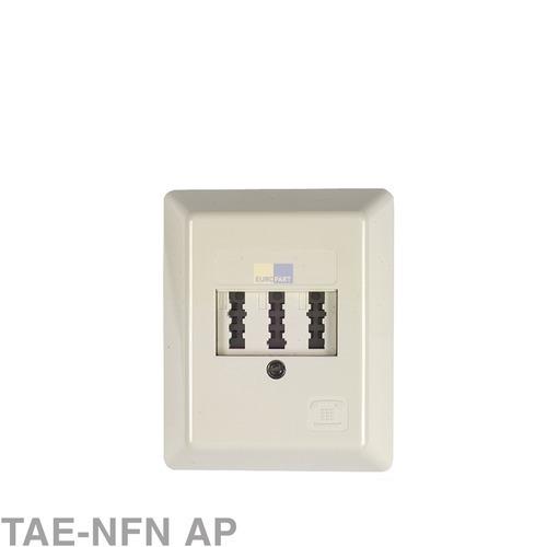 Klick zeigt Details von Anschlussdose 3-fach TAE-NFN AP