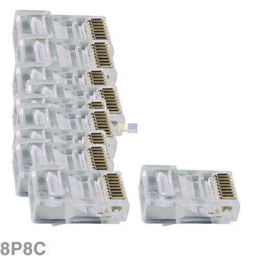 Klick zeigt Details von Modular-Stecker 8P8C, 10 Stück