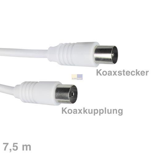 Klick zeigt Details von Anschlusskabel Empf Koax 7,5 m EUROPART