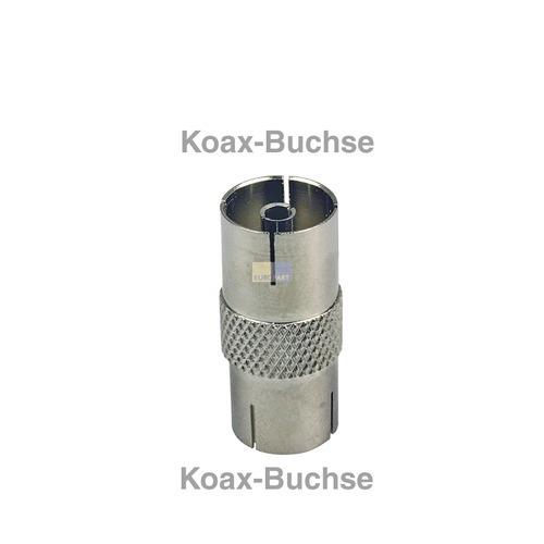 Klick zeigt Details von Adapter Koaxbuchse/-buchse