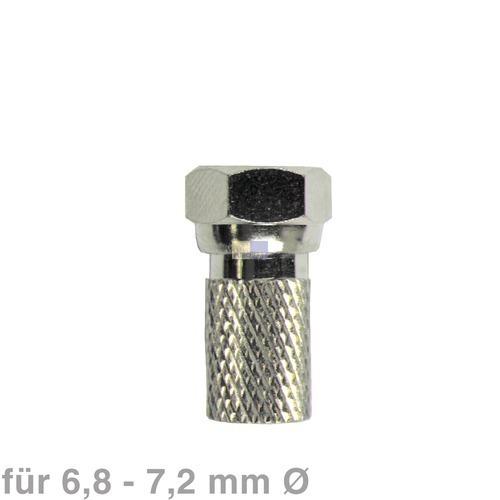 Klick zeigt Details von F-Stecker schraubbar 6,8-7,2mmØ