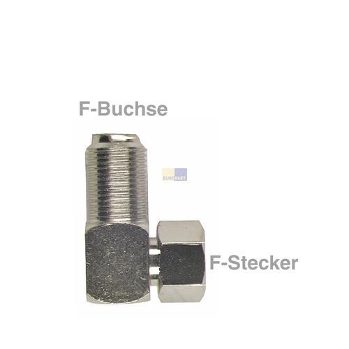 Klick zeigt Details von F-Winkelstück Stecker/Buchse