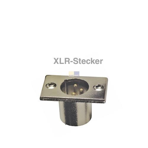 Klick zeigt Details von XLR-Stecker 3polig, Einbau