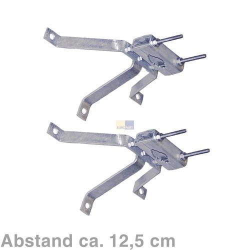 Klick zeigt Details von Mastbügelgarnitur 12,5cm Abstand, 2er Set,
