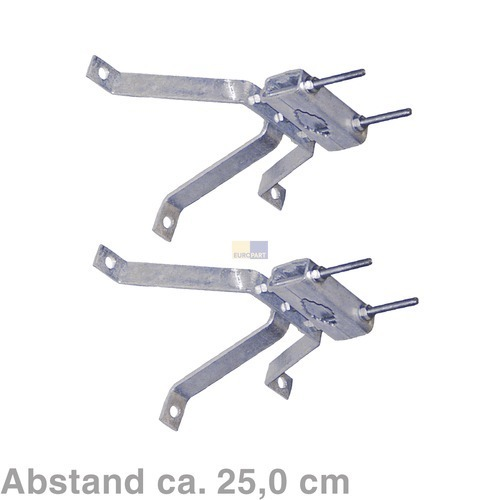 Klick zeigt Details von Mastbügelgarnitur 25,5 cm Abstand, 2er Set,