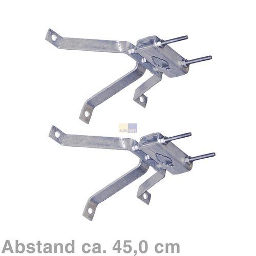 Klick zeigt Details von Mastbügelgarnitur 45cm Abstand, 2er Set,
