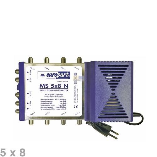 Klick zeigt Details von Multischalter 8fach 5 x 8 EUROPART