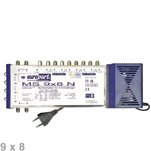 Klick zeigt Details von Multischalter 8-fach (9x8)