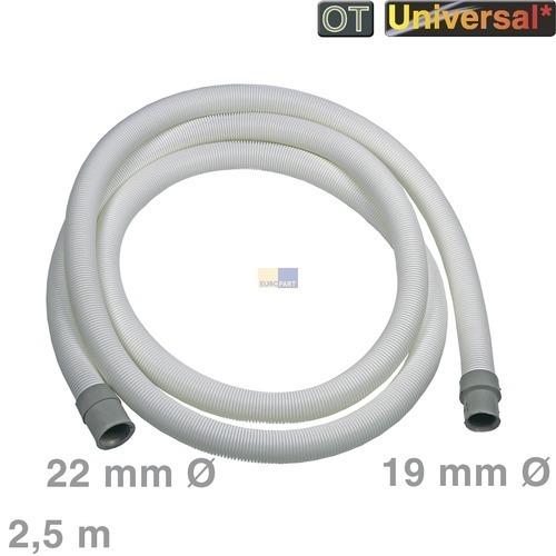 Klick zeigt Details von Ablaufschlauch 2,5m 19/21mmØ Universal Schlauch Waschmaschine Spülmaschine