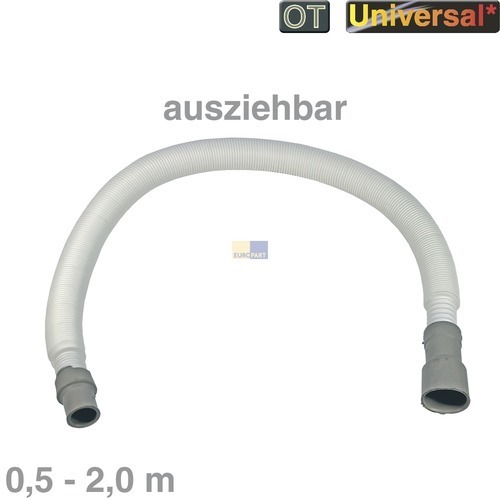 Klick zeigt Details von Ablaufschlauch 0,5-2,0m ausziehbar 19/21/28mmØ Universal Schlauch Waschmaschine