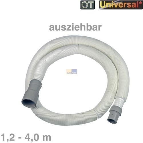 Klick zeigt Details von Ablaufschlauch 1,2-4,0m ausziehbar 19/21/28mmØ Universal Entleerungsschlauch