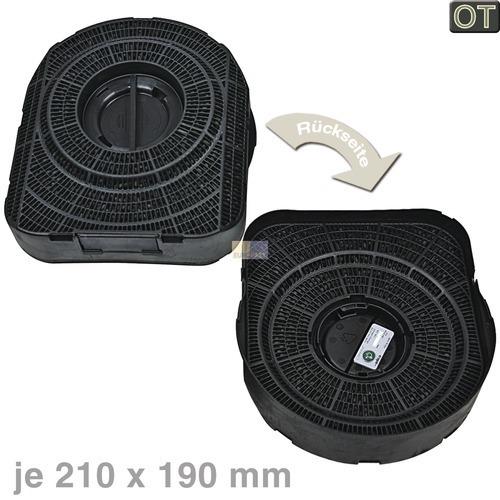 kohlefilter 210x190mm 2 st ck aeg juno 902979365. Black Bedroom Furniture Sets. Home Design Ideas