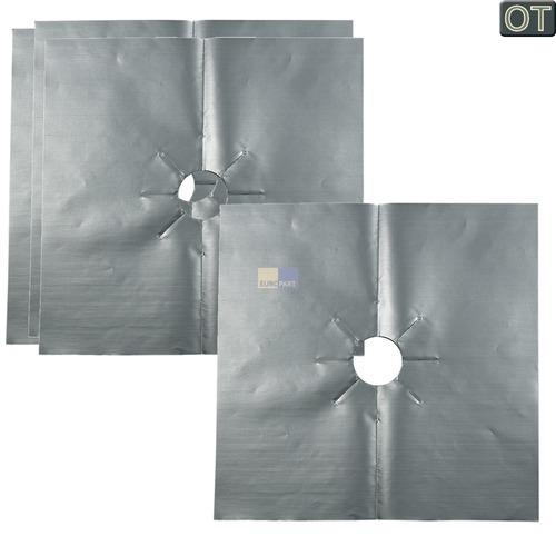 Klick zeigt Details von 4 Schutzfolien für Gaskochfelder AEG 902979408 waschbare Kochfeldschutzfolien