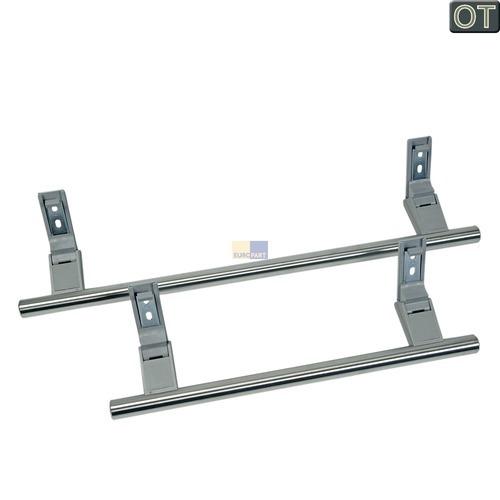 Klick zeigt Details von 2 Türgriffe silber Stangenform Liebherr 9031118 Tür Hebelgriff Türgriff für Kühlschrank