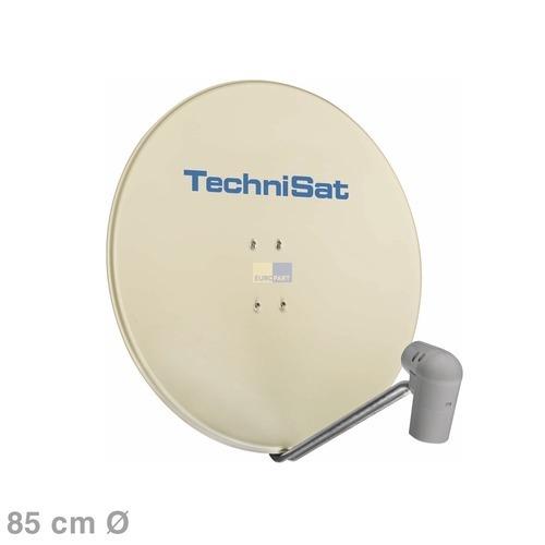 SAT-Antenne 85cm beige + QuatroLNC + Halterung