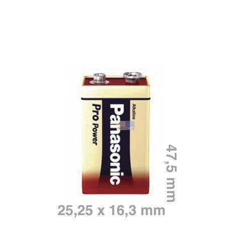 Klick zeigt Details von Batterie 9-Volt-Block 6LR61PPG Panasonic