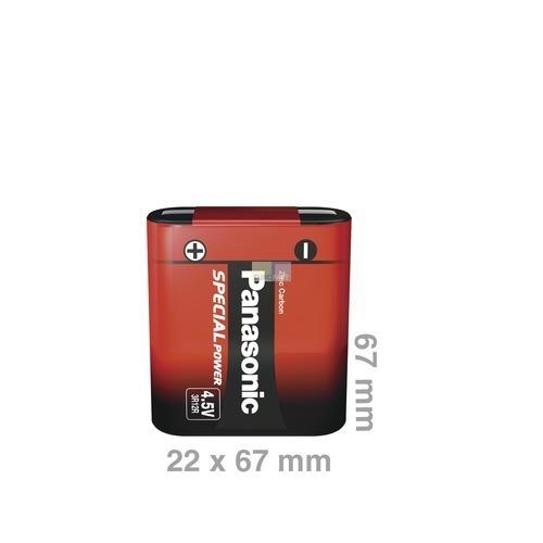 Klick zeigt Details von Batterie Flach 3R12R Panasonic